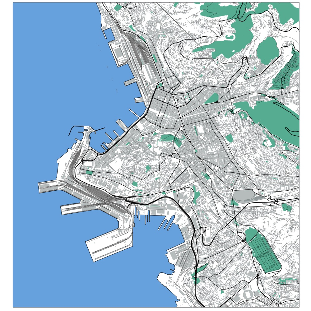 Map of Trieste
